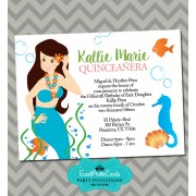 Mermaid Quinceanera Invitations