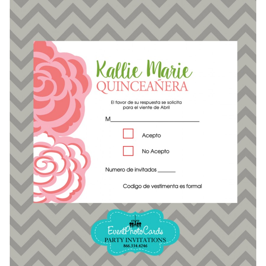 Mint Green & Coral Theme RSVP