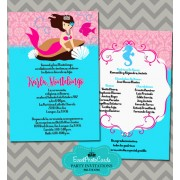 Ocean Theme Quinceanera Invitations Pink