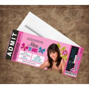 Butterfly Quinceanera Concert Ticket Invitations