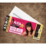Hollywood Concert Ticket Sweet 16 or 15 Invitations