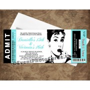 Audrey Hepburn Ticket Tiffany Invitations