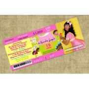 Candyland Sweet 15 Ticket Invitations