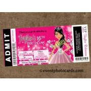Diamond Sweet 16 Birthday Invitations