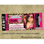 Leopard Ticket Style Invitations