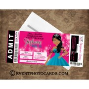 African American Sweet 16 Ticket Invitations