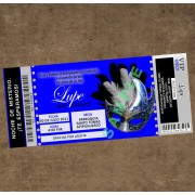 Silver Blue Masquerade Ticket Invitation (change color)