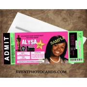 Hollywood Concert Ticket Sweet 16 Pink