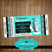 Breakfast at Tiffany Blue Sweet 16 Invitations