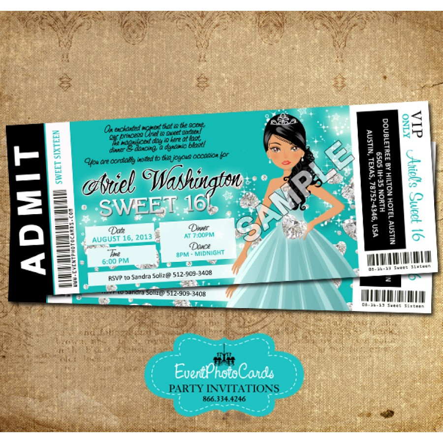 Look At These Cool Mint Quincenera Invitations Or Use For