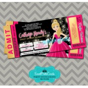 Pink Gold Sweet 16 Ticket Invitations - Blonde