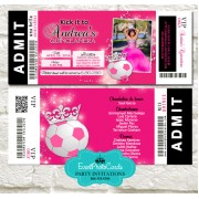 Soccer Quinceanera Invitations - Princess Edition