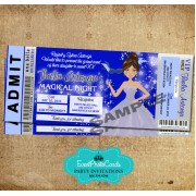 Royal Blue Magical  Quinceanera Invitations