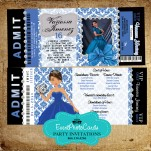 Royal Blue Mis XV - Damask Ticket