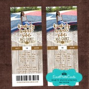 Western Lace Rustic Ticket Invitations
