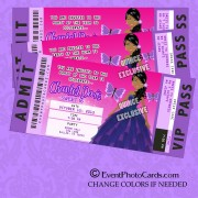 Purple Sweet 16th Birthday Party Club Pass
