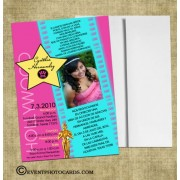Hollywood Sweet16 Invitations