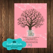 Tree Branches Coral Pink  Invitations - 15