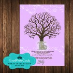 Tree Branches Baby Pink Invitations - 15