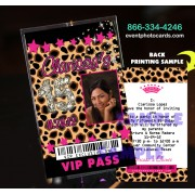 Cheetah Pink Quinceanera Vip Pass