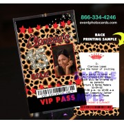 Cheetah Red Quinceanera Vip Pass