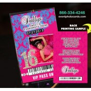 Pink & Blue Vip Pass Invitations