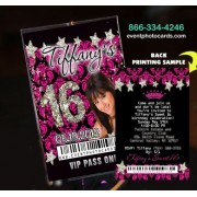 Damask Stars Vip Pass Sweet 16 Invitations