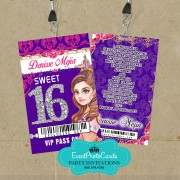 Arabian Nights Purple - Vip Pass Sweet Sixteen