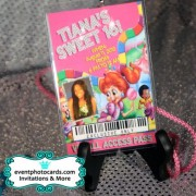 Candyland Sweet Sixteen Vip Pass Invitations