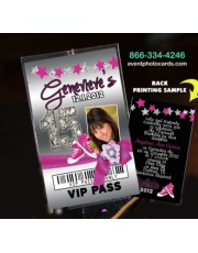 Converse Birthday Party Vip Pass Quinceanera Invitations