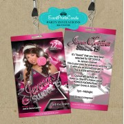 Stars Sweet 16 Vip Pass Invitations