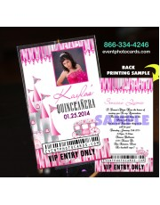 Princess  Backstage Pass Sweet 15 -  Invitations