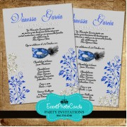 Mask Silver & Royal Blue Quinceanera Invitations