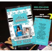 Stars Quinceanera Vip Pass Invitations