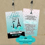 Teal Eiffel Sweet 16 Pass