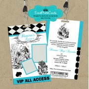 Alice in Wonderland  Vip Pass Invites #2