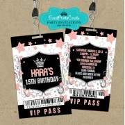 Coral  Vip Pass Stars -15th Birthday