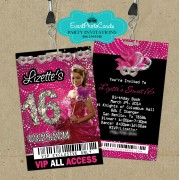 Pink & Black Mask Vip Pass