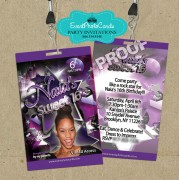 Purple Stars Vip Pass Invitations 16