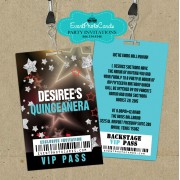 Concert Backstage Pass Sweet 15- Stars Aqua