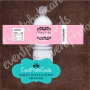 Nuestra Boda Water Bottle Label