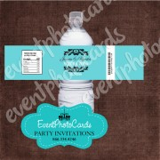 Nuestra Boda - Teal Water Bottle Label