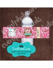 Girly Chic Cowgirl Water Bottle Label