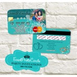Wedding  - Credit Card Teal Green  Invitations