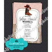 Rustic Lace Western Wedding Invitations