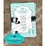 Tiffany Blue Wedding Stripe - Couture