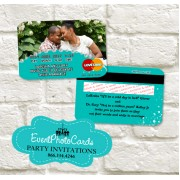 Wedding  - Credit Card Turquoise Teal Invitations
