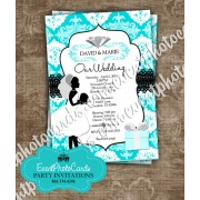 Tiffany Blue Wedding Damask Couture