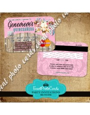 Western Floral Quinceanera  Pink