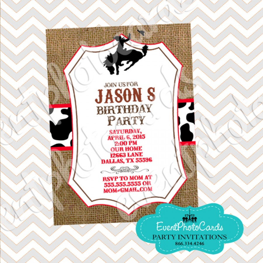 Country Cowboy, Male invitations